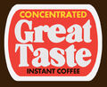 Great Taste Instant Coffee logo 1977