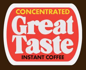 Great Taste Instant Coffee logo 1977