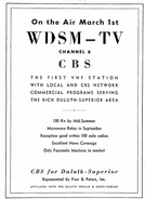 WDSM-TV 1954 (pre sign on)