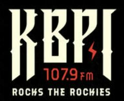 KBPI 107.9 FM Rocks The Rockies logo