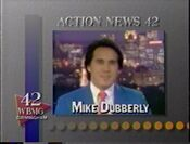 WBMG-TV Action News 42 Weekend Nightdesk Mike Dubberly 1991