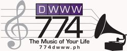 DWWW 774 AM Radio Logo