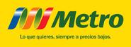 Metro logo 2004 con fondo y eslogan (2004-2005)