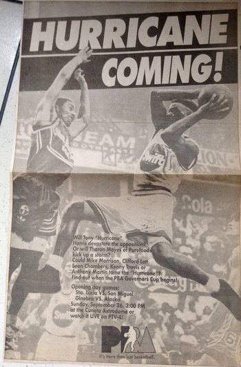 PBA 1993 Governors Cup ad.