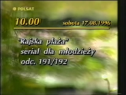 Polsat 1996 TV schedule ident 1