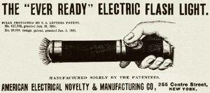 Ever Ready Flashlight Ad 1899