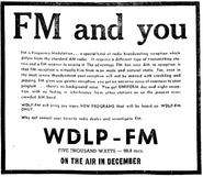 WDLP-FM - 1950 -Pre-Launch, November 12, 1950-