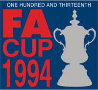 The FA Cup logo (unsponsored, 1993-1994)