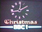BBC1 Christmas clock 1976