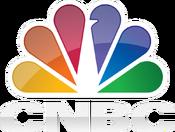 CNBC white logo