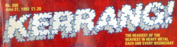 Kerrang old logo late 1980s