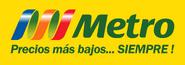 Metro logo 2004 con fondo y eslogan (2005-2009)