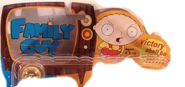 "Family Guy toy logo with Stewie Griffin ""Victory shall be mine!"""