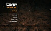 Far Cry Primal Menu 16x10