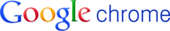 Google logo and Chrome wordmark 2012