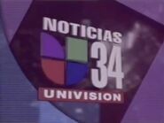 Kmex now back to noticias 34 bumper 1996