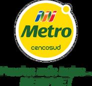 Metro logo 2011 con eslogan (junio-septiembre 2011)