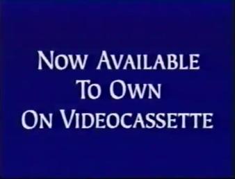 Walt Disney Studios Home Entertainment Buena Vista Now Available to Own on Videocassette