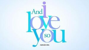 And i love you so titlecard