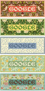 Google William Morris' 182nd birthday (Storyboards)