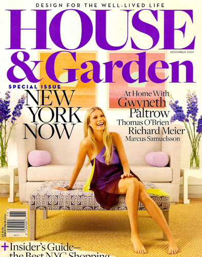 House And Garden Magazine Cover Gwyneth Paltrow
