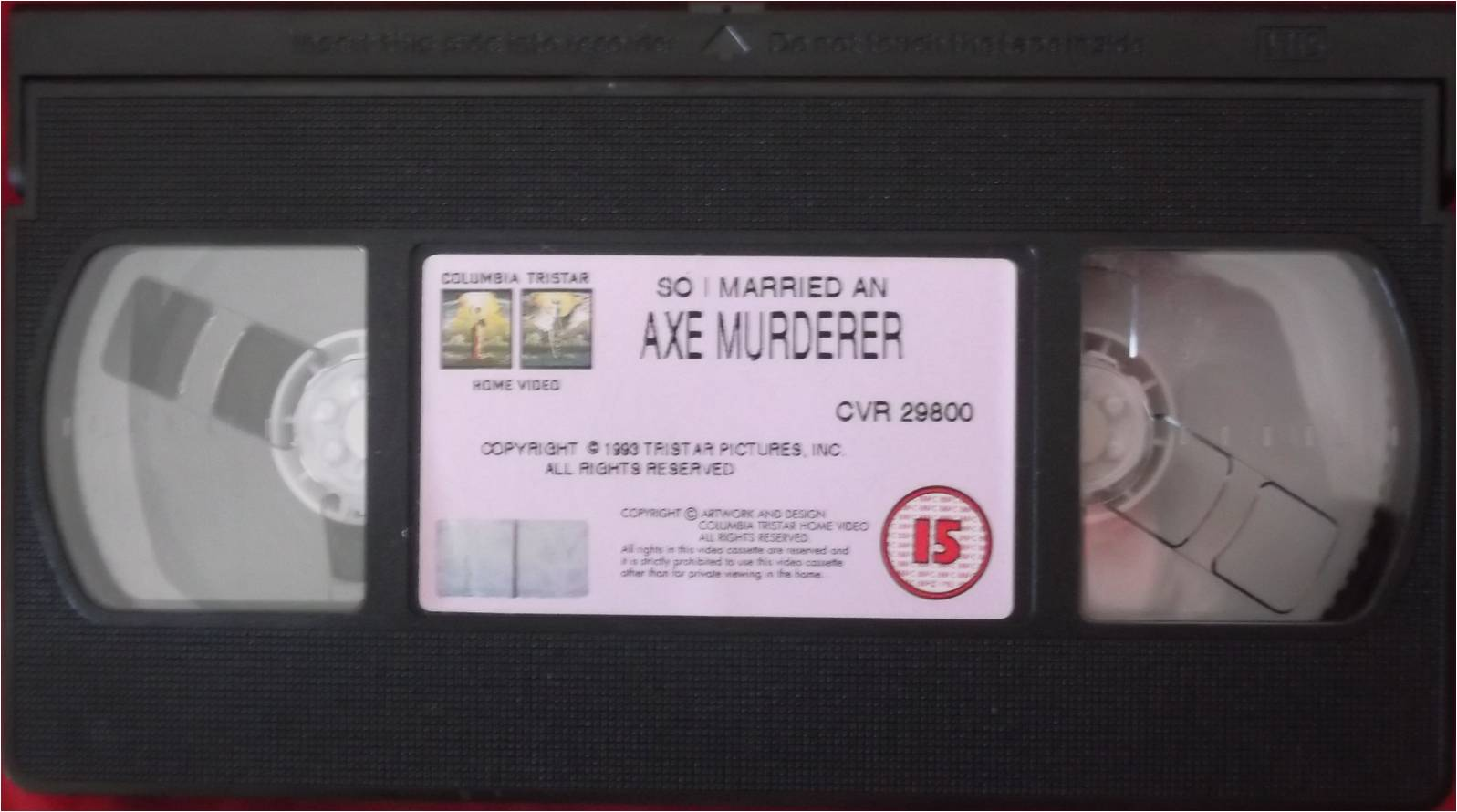 Columbia TriStar Home Video 1993 VHS Tape Example