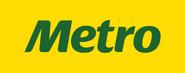 Metro wordmark 2011-2013 usado en tiendas