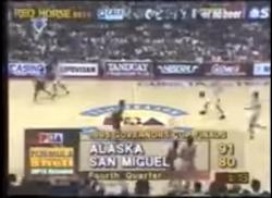 PBA on Vintage Sports scorebug 1995