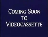 Walt Disney Studios Home Entertainment Buena Vista Coming Soon to Videocassette Logo