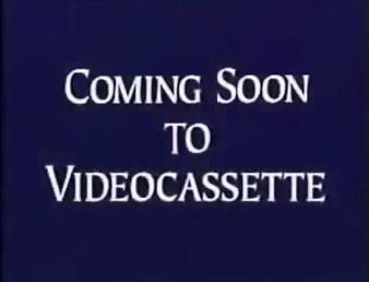 Walt Disney Studios Home Entertainment Buena Vista Coming Soon to Videocassette Logo
