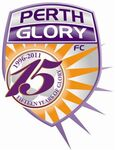 Perth Glory FC logo (15th anniversary)