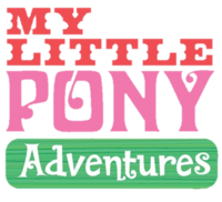 "Early My Little Pony- Friendship is Magic logo as ""My Little Pony Adventures"" (2009)"