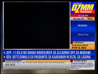 June 19, 2017 DZMM TeleRadyo used the datascreen graphics
