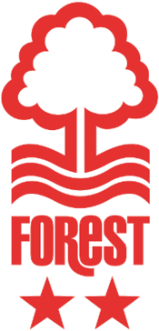 Nottingham Forest FC logo (red, two stars below)
