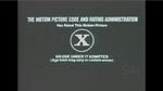 Rated X MPAA (1970)