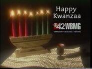 WBMG 42 CBS Happy Kwanzaa 1997