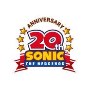 Sonic 20th logo b colour print copy