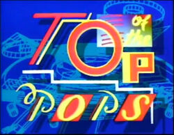 Top of the pops logo late 1980's and early 1990's
