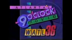 WATL 36's Atlanta 9 O'Clock Movie from 1989
