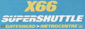 GG SuperShuttle X66 logo 1997