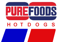 Purefoods Hotdogs logo 1988 1990