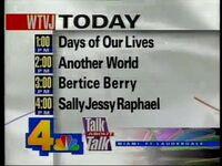 WTVJ Daytime Lineup 1993