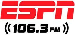 WUUB ESPN106.3 logo