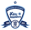 Harrisburg City Islanders logo (10th anniversary)
