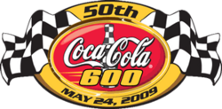2009 Coca-Cola 600 race logo