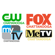 FOX Chattanooga CW Chattanooga Logo My Network TV Chattanooga Logo METV Chattanooga Logo