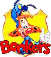 Bonkers alternate logo with character