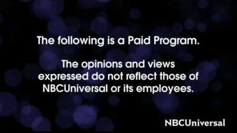 NBCUniversal Paid Programming Intro Outro Disclaimer (2016-present)
