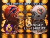 WBRC-TV Channel 6 ABC Monday Night Football Buffalo Bills Miami Dolphins promo 1992