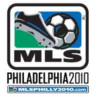 MLS logo with Philadelphia 2010 wordmark and web address